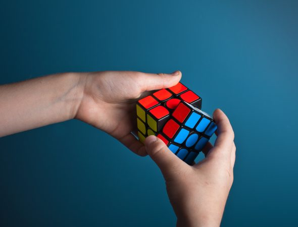 Be aware, be smart; Rubiks cube.
