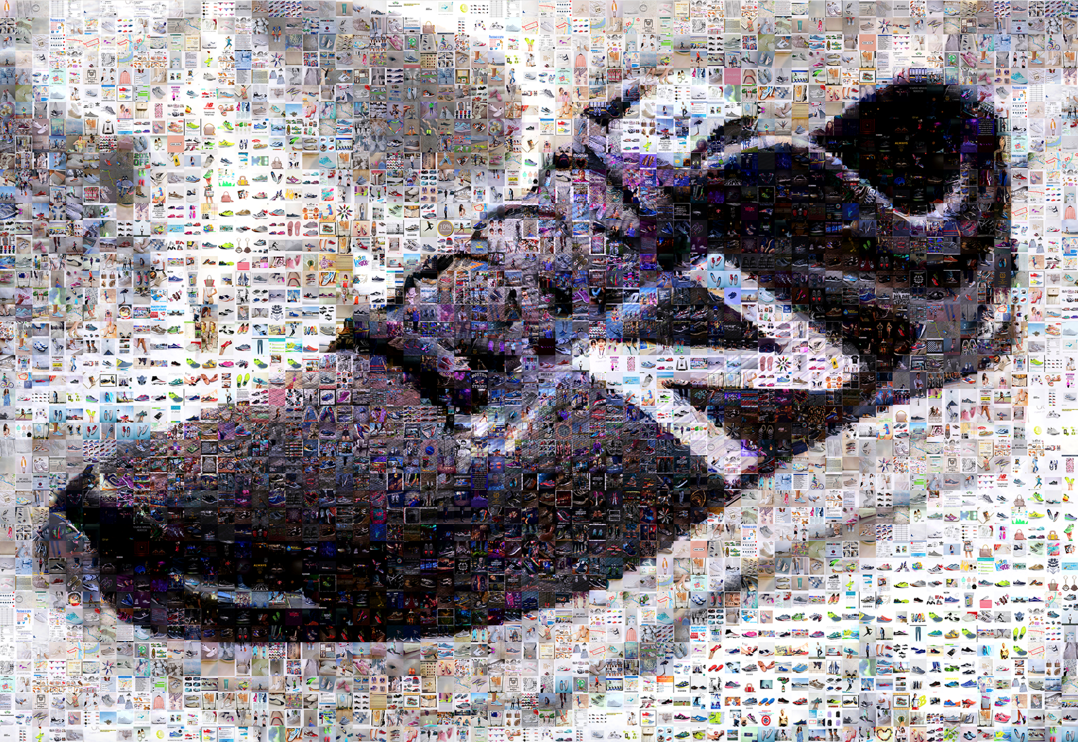 Luster Hashtag Mosaic for New Balance
