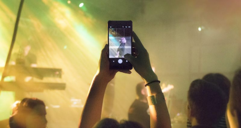Phone at Concert