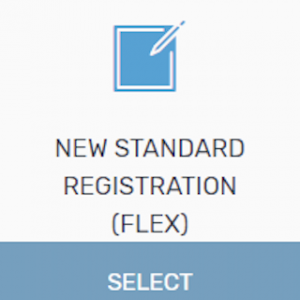 new standard registration (Flex)